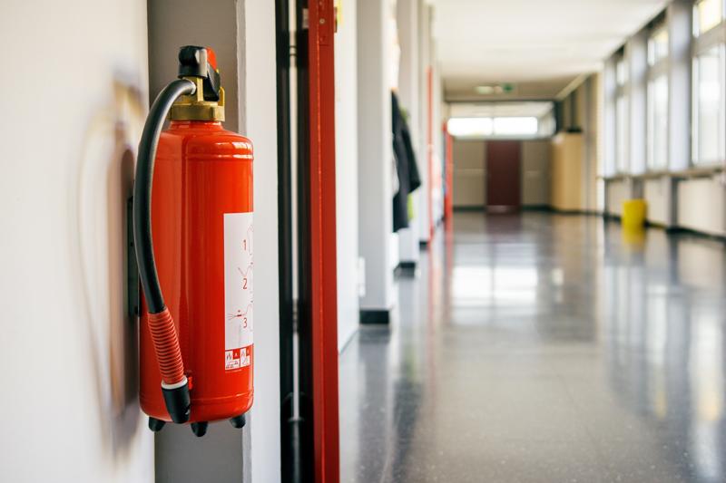 prevención de incendios en centros de salud